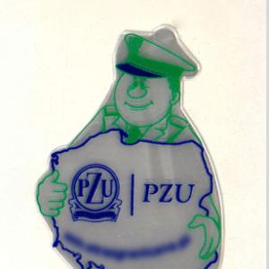 Realizacja naklejki z nadrukiem firmy PZU