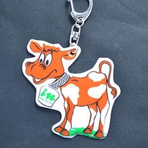 Przykładowa realizacja miękkiej zawieszki odblaskowej w kształcie krowy