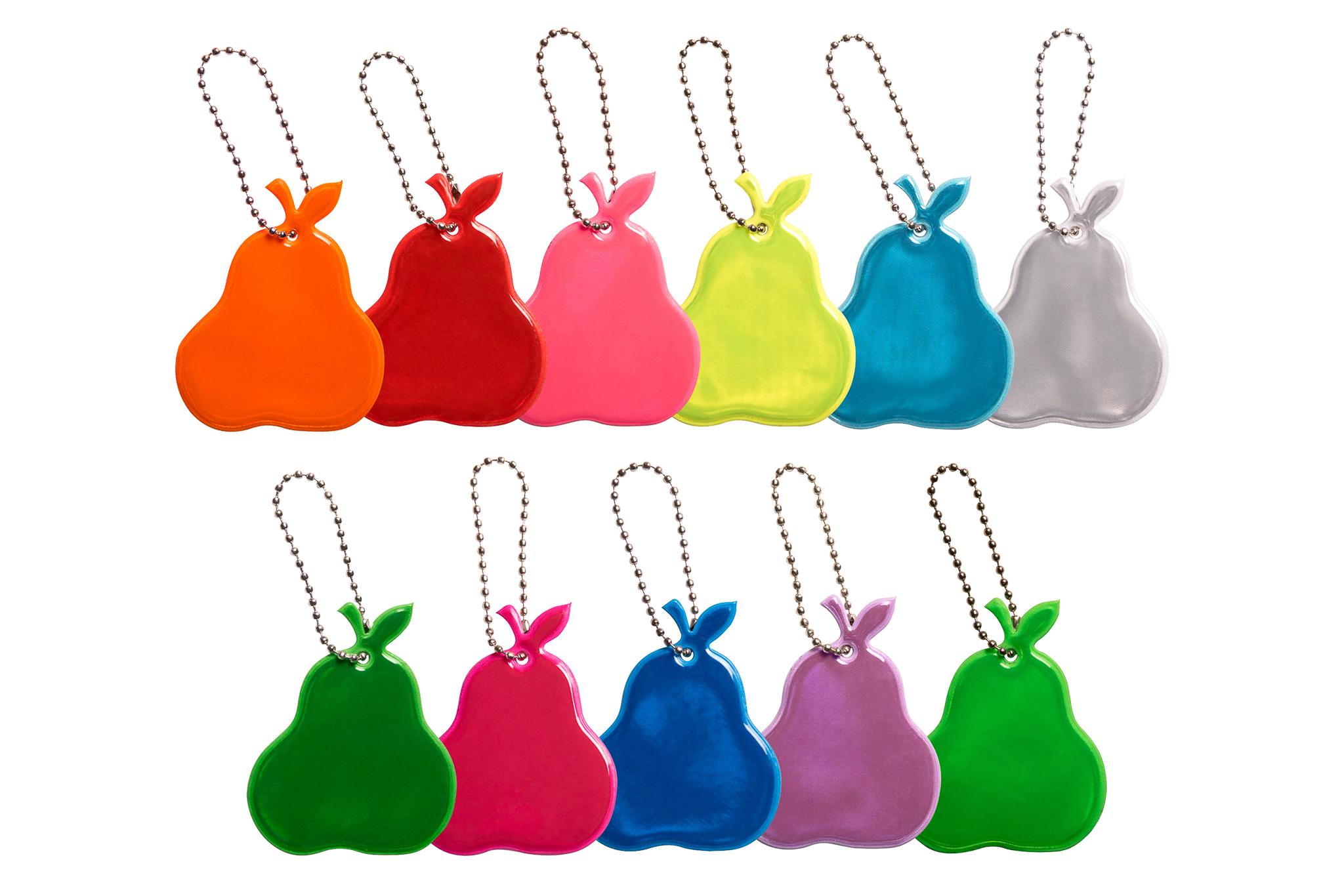 odblaskowe gruszki w różnych kolorach