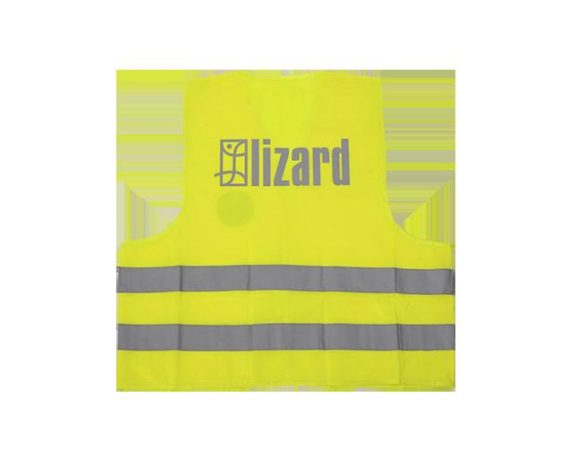 odblaskowa kamizelka z logo lizard